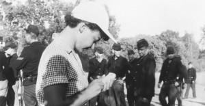 Lillian Ross on set of Red Badge