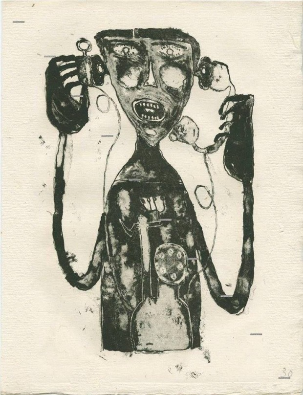 Jean Dubuffett - Telephone Torment- 1944