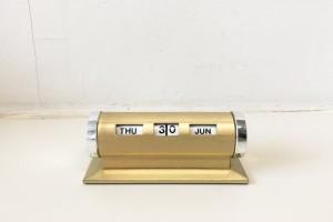 Park Sherman mid-C Perpetual Calendar Gold Tone Metal & Brass
